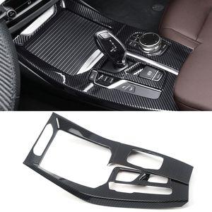 Car Accessories Center Gear Shift Panel Cover Frame Sticker Trim ABS Carbon Interior Decoration for BMW X3 G01 X4 G02 2018-2020