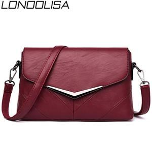 LONOOLISA 2020 New Designer Umhängetaschen für Frauen-Qualitäts-Leder-Frauen Handtaschen Schulter-Damen Sac A Haupt