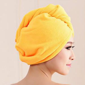 DIDIHOU Quick Dry Cabelo de secagem do envoltório de toalha Duche absorventes de microfibra Cabelo Cap Hat as meninas das mulheres Tools Turban Envoltório principal Tomando banho