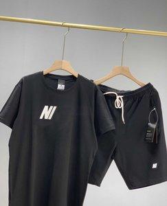 Летний бренд мужские женские спортивные костюмы мода Мужчины Женщины пара футболки + шорты костюмы дизайнер спортивный костюм для бега YF203253