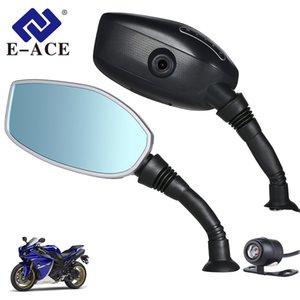E-ACE Мотоцикл камеры DVR черточки Cam мотоциклов зеркало заднего вида Цифровой видеорегистратор Двойной объектив с камеры заднего вида Авто регистратор автомобиля