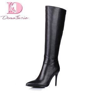 Doratasia diseño de marca al por mayor de cuero Genuino tacones altos hasta la rodilla Botas de mujer Zapatos de mujer sexy botas de fiesta