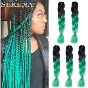 옹 브르 두 가지 믹스 컬러 Kanekalon Braiding Hair 합성 점보 Braiding Hair Extensions 24 인치 크로 셰 뜨개질 Braids Hair Bulk 도매 가격