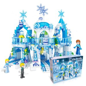 2020 Princess Snow Queen Ice Castle Snow Figures Building Blocks Toy Compatible Legoinglys Friends City Bricks Toys For Children