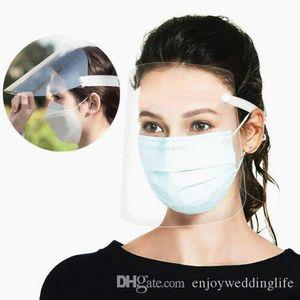 США STOCK, регулируемый Полный Защитная Пластиковый противотуманным Защитная маска Прозрачная Anti-пыли PM2.5 загрязнения Face Shield Plastic FY8015