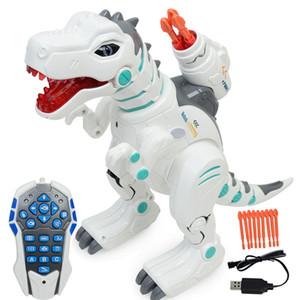 어린이 지능형 전기 원격 제어 공룡 장난감 청구 완구 스프레이 티라노사우루스 렉스 모델 어린이 교육 완구
