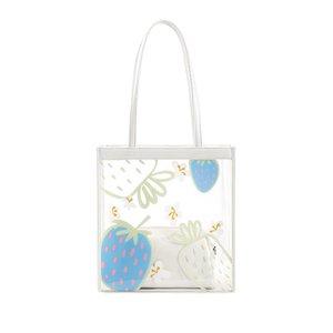 Amarillo 2020 bolso de las señoras bolso nuevo de PVC transparente bolsa de hombro femenino de la jalea madre bollo