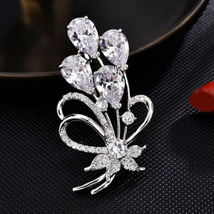 Crystal Brooches for women High end Pin Brooch dress Accessories enamel pin Fashion Jewelry cc brooch gifts for women hijab pins