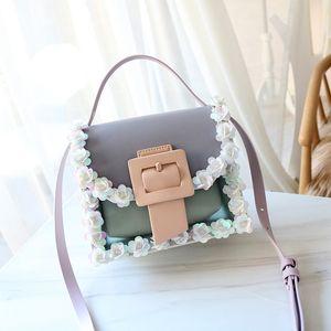 Women Fahsion Evening Bag Artificial Flower Pearl Beaded Clutch Purse PU Leather High-end Crossbody Lady Girl Shoulder Handbag