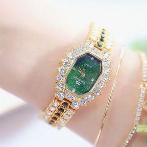 Часы женщин 2018 Top Luxury Brand Малый платье Алмазный Часы Женщины браслет Rhinestone наручные часы Женщины Montre Femme 2019 V191217