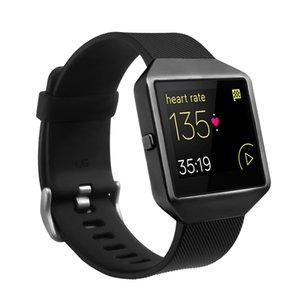 Bemorcabo per Fitbit Blaze Band, cinghia di sostituzione del silicone del braccialetto con il nuovo telaio in metallo per Fitbit Blaze smart fitness Guarda MX200415