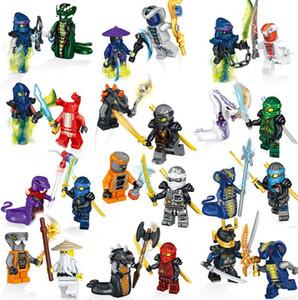 24pcs Ninja Acción Mini Toy figura fantasma mal Ninja Pythor Chop'rai Mezmo Ejército Serpentina Building Blocks