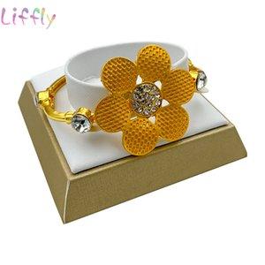 Charm Dubai Fashion Jewelry Sets Charm Women Wedding Flower Necklace Nigeria Fashion Bridal Jewelry Set Bracelet Earrings Ring
