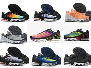 2019 nike air max plus tn Plus III 3 TN Hombre desig TUNED Airs Zapatos para correr Clásico al aire libre tn Negro Blanco Sport Shock Sneakers Men requin Blue Spider