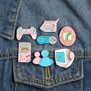 Manejar pernos de la solapa de dibujos animados Juego pernos clásico juego de la máquina esmalte alfileres y broches Pin Bolsa ropa regalos joyería linda para los amigos