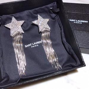 Дамы уха клипа мода новых ювелирные изделия великолепного шарм партия серьга звезда с кисточкой дизайна цветущего очарованием