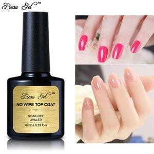 Гель для ногтей Beau 10ML / C Sak Off Off Fail Paill No Wipe Top LACK Длительный тонкий уплотнительный слой для ультрафиолетовых лаков