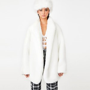 ins Super fire g1a fashion Wool brand temperamentwhite wool environmental protection imitation fur coat coat women's wear