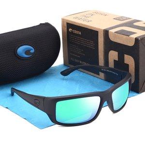 Paons marque pour les hommes lunettes de soleil polarisées classique carrés de conduite Lunettes de soleil Vintage Mirror Costa Sport Lunettes de soleil UV400