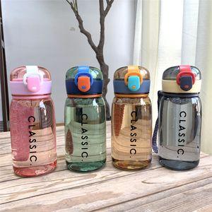 lettres simples Creative portable tasse d'eau en plastique de grande capacité épreuve de la bouteille d'eau de sport en plein air couverture bullet fuite espace tasse T9I00358