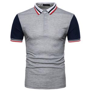 Sommer klassischen Mens Designer Polos beiläufige Panelled Short Sleeve Tees Stehkragen Sommermens Quick Dry Kleidung