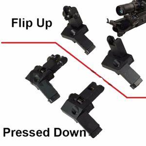Tactical Backup-Vorne Hinten Flip Up 45 Grad Offset schnellen Übergang Eisen-Anblick Berg Standard Profile 2 PCS Neu