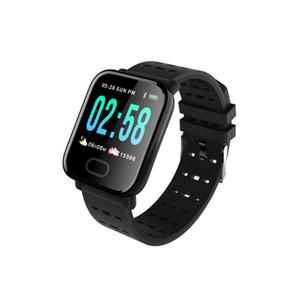 A6 pulseira smart watch cor da tela de toque ip67 à prova d 'água smartwatch freqüência cardíaca monitor de pulseira inteligente para iphone android