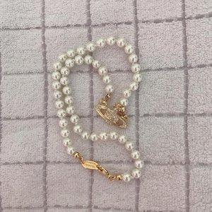 Alta calidad Rhinestone satélite colgante, collar de cadena mujeres Orbit joyería de perlas collar de la manera para el partido del regalo