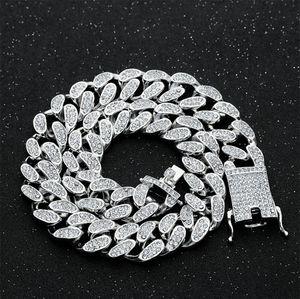 20mm 16-24inch Iced Out Schweres Miami Cuban Link-Ketten-Halskette Hip-Hop-Gold-Silber-Farben-Mode Schmuck