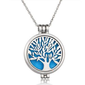 60 cm chaîne arbre de vie creux médaillon pendentif aromathérapie huiles essentielles diffuseur collier charmes bijoux femmes collier cadeau B174S F