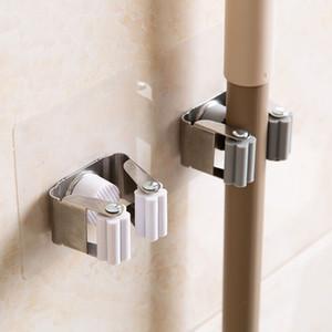 Cocina de alta calidad titular de escoba baño pared soporte de pared de la fregona Montada cepillo escoba suspensión del almacenaje organizador de la cocina rack