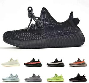 2019 top fashion brand mens women designer men hommes chaussures kanye west V2 zebra static cream hyperspace platform Wave Runner 1564571673