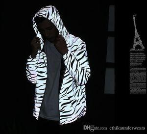 M3 Refletir Jacket por Homens Spring Autumn Windbreaker Zipper Designer Brasão Jackets Windruner