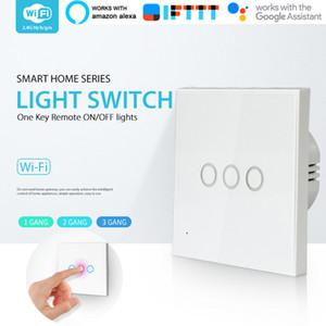 스마트 와이파이 스위치 Wifi 벽 스위치 3 갱 터치 원격 스마트 홈 터치 스위치 지원 Alexa, 구글 홈, IFTTT