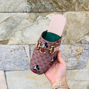 Gucci shoes Mode Femmes Hommes Luxe en cuir Mocassins Muller Mocassins Chaussures pantoufle avec boucle Chaussons Avslappnad Mules Flats Chaussures Baskets