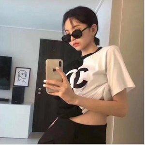 Um esporte designer de senhora e de lazer T-shirt solta e confortável com mangas curtas, impressão de algodão de alta qualidade, livre de frete