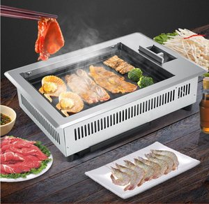 Korean Household Gas BBQ Commercial Commercial Multifunctional Grill Machine Restaurant Built-in Grill Skewers Grill