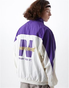 남성 빅 편지 인쇄 자켓 디자이너 스포츠 하이 스트리트 피트니스 재킷 지퍼 플라이 패션 남성 자켓