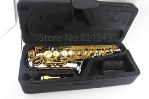 Placcato oro professionale Suzuki ottone strumenti musicali Sassofono nichelato chiave placcato Eb Tune Sax Caso Bocchino Con