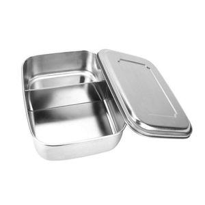 Tragbare 3 Gitter Edelstahl Lunchbox Geschirr Lebensmittel Container Einschichtige Student Lunchboxen Große Kapazität Einfach Sauber C18112301
