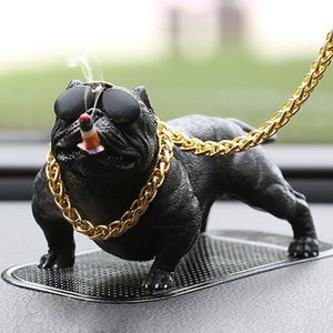 Car Dog Decor Car Interior Simulazione Bully Dog Accessori per bambole Ornamenti Xr657 C19041201