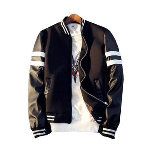 Strip Slim Blouson hommes Pardessus Casual Varsity Jacket Baseball Pilot College Hiphop vestes pour hommes Taille Plus Vêtements Jk6017