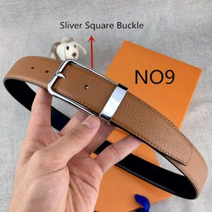 Cintos Womens Belt Needle Mens Casual Cintos Needle Buckle 16 Models Largura 3.4cm Altamente qualidade