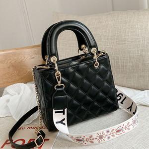 Top Griff Mode-Frauen PU-Leder Chaise Lingge Handtaschen-Marken-Entwerfer-beiläufige Schulter-Stadtstreicherin-Telefon-Beutel für Frauen