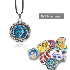 Modo caldo intercambiabile del metallo della collana del fiore dello zenzero 022 Fit 18 millimetri Snap Button monili di fascino Collana regalo per le donne
