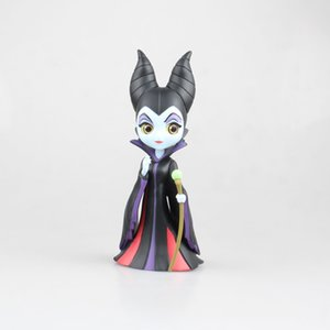 Qposket Maleficent Sleeping Beauty Black Queen Action Figures, The Decoration Of Cake Gift Toys With The Box 17 Cm