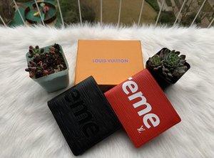 Paris plaid style Designers mens wallet famous men luxury purse special canvas multiple short small bifold wallet with box