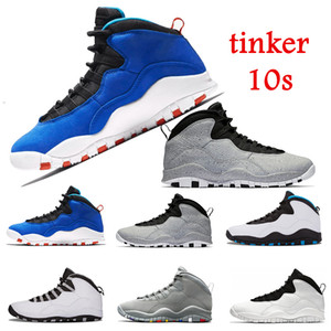 2020 Nike Air Jordan Retro Chaussure de basket-ball 10 Tinker Cement 10s chaussure pour homme Bobcats Gris chicage Cool gris im back Baskets bleu sport baskets pointure 7-13