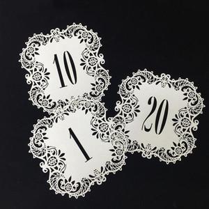 Creativa hueco cortado con láser Tarjetas de estar el indicativo de Suministros de la tabla del boda romántica partido del acontecimiento LXL1182-1