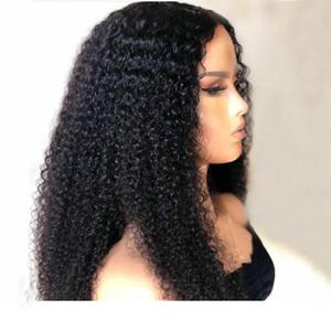Кудрявый вьющиеся человеческие волосы кружева фронтальные парики 13x6 150% плотность вьющиеся волосы Реми кружева фронт парик предварительно сорвал